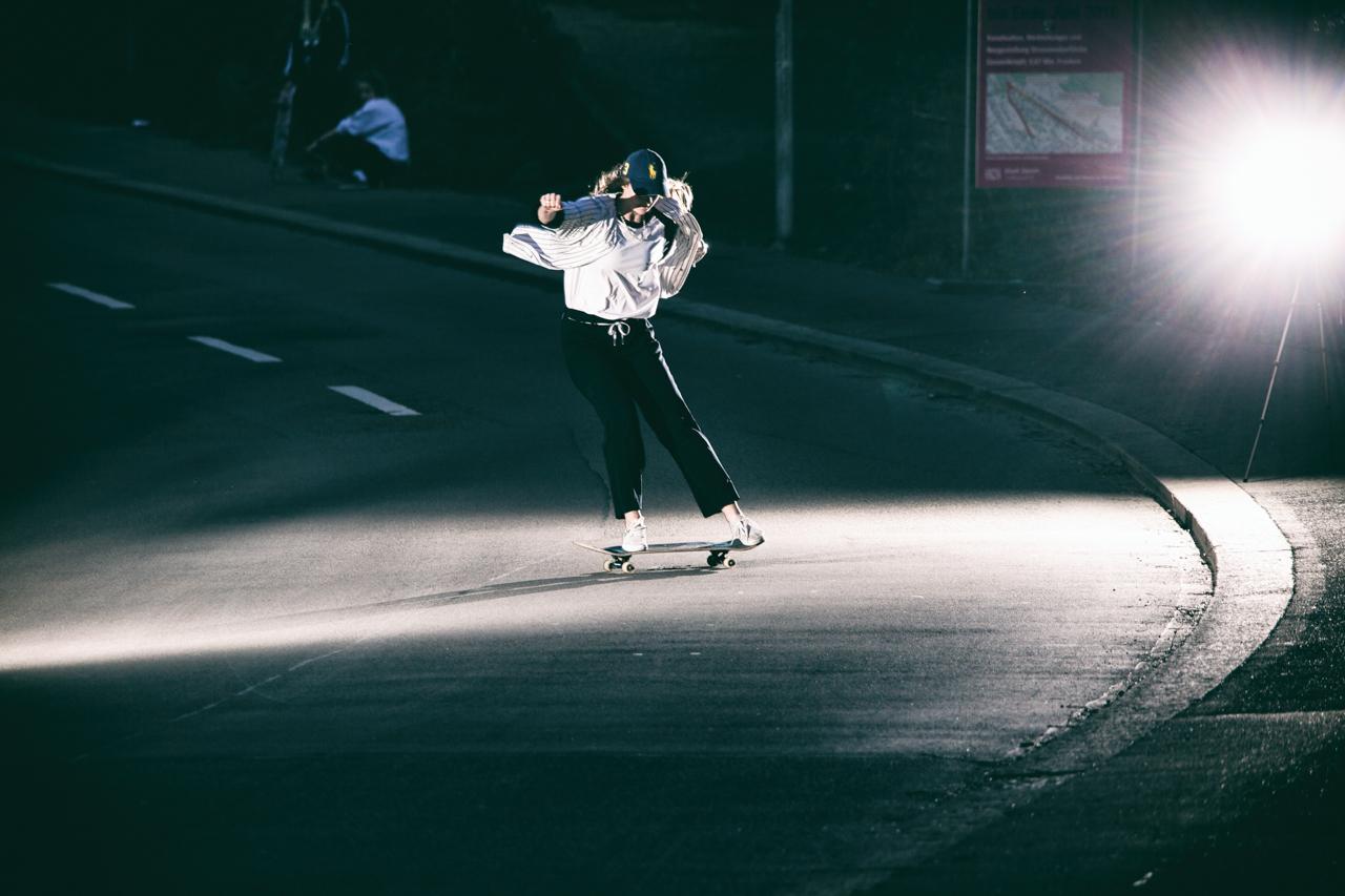 Denice Stoller, Powerslide am Rigiblick. © Nicolas Büchi