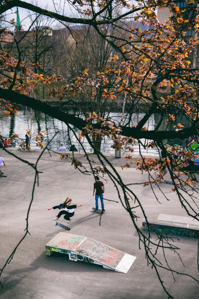 Denice Stoller, Heelflip, Kornhausbrücke. © Nicolas Büchi