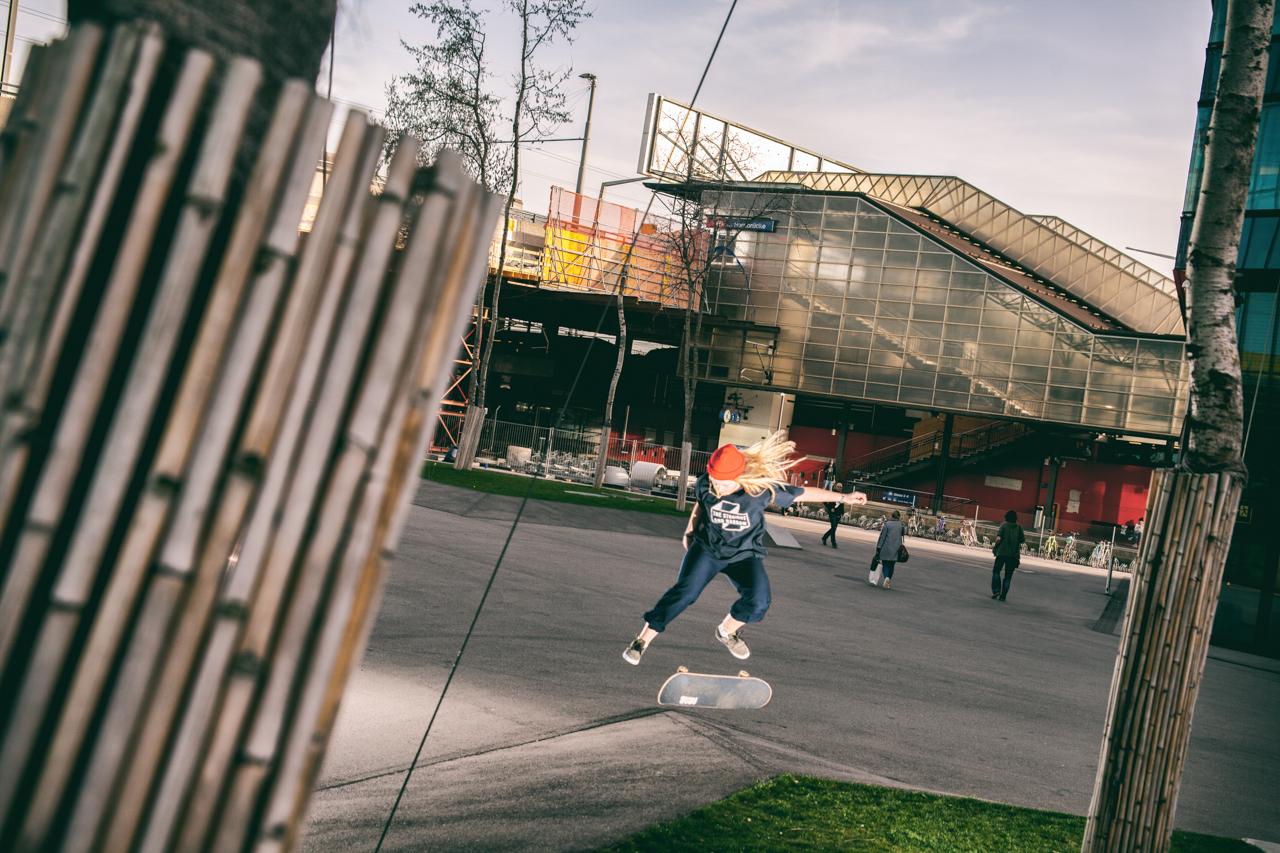 Nathalie Genetelli, Kickflip, Prime Tower.© Nicolas Büchi